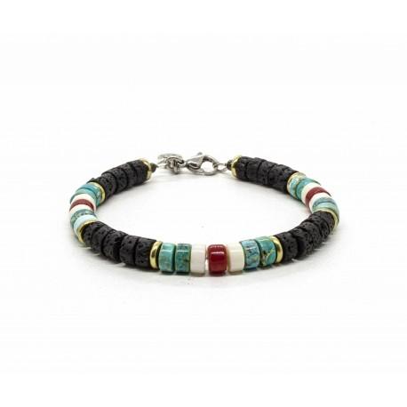 Lava Stone Heishi Bracelet